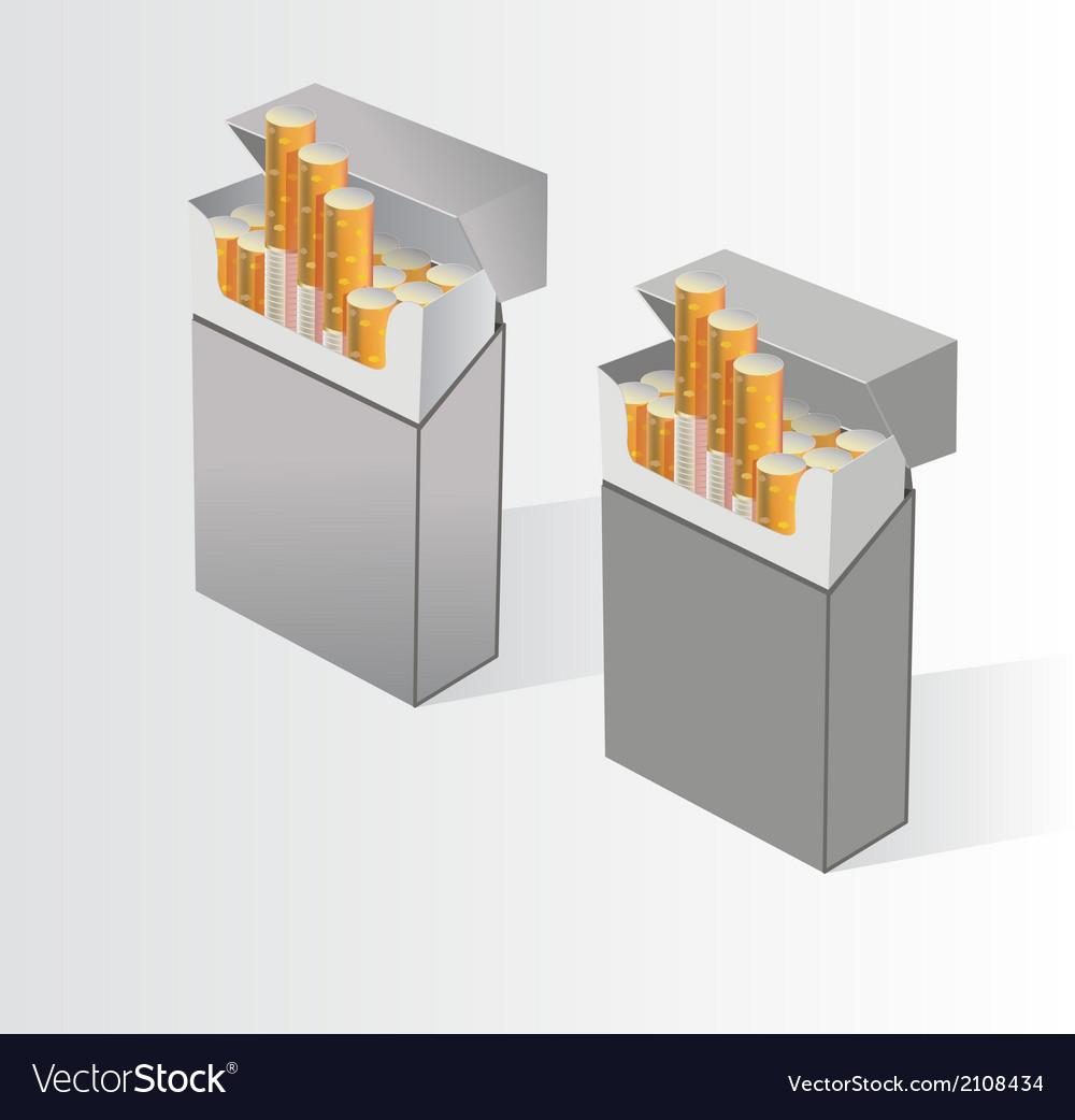 No smoking cigarette skull on cigarettes vector | Price: 1 Credit (USD $1)