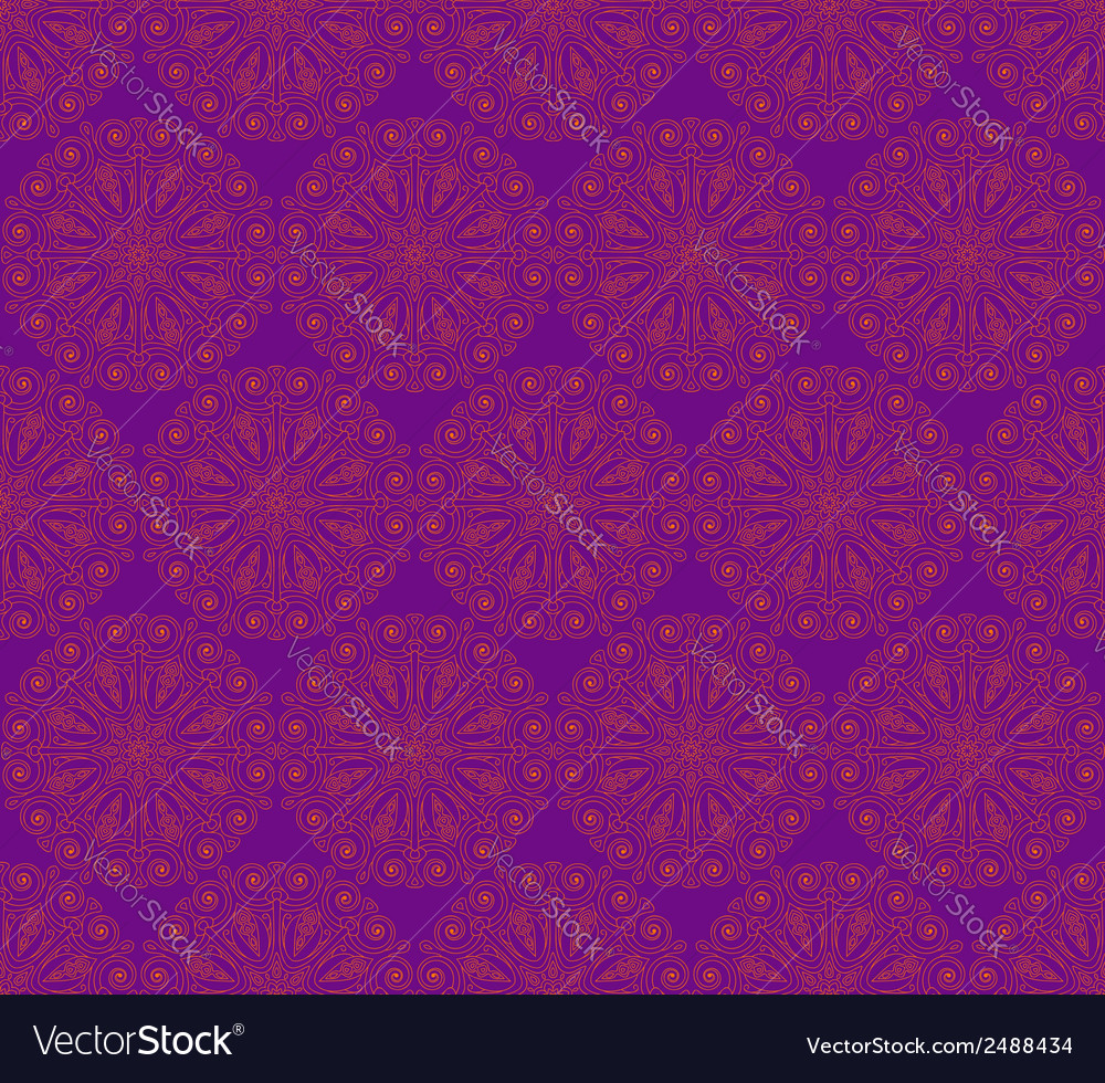 Seamless pattern made of round decorative elements vector | Price: 1 Credit (USD $1)
