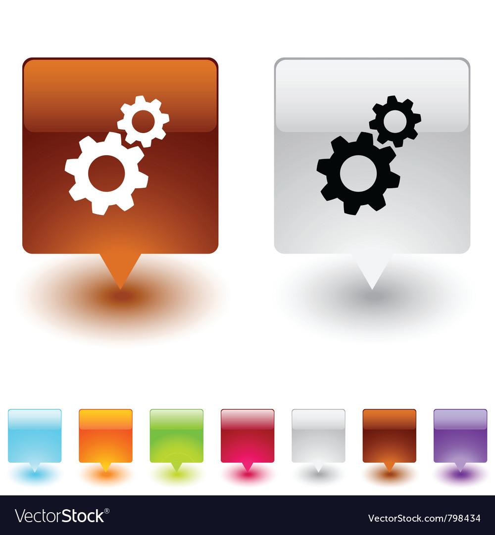 Tools square button vector   Price: 1 Credit (USD $1)
