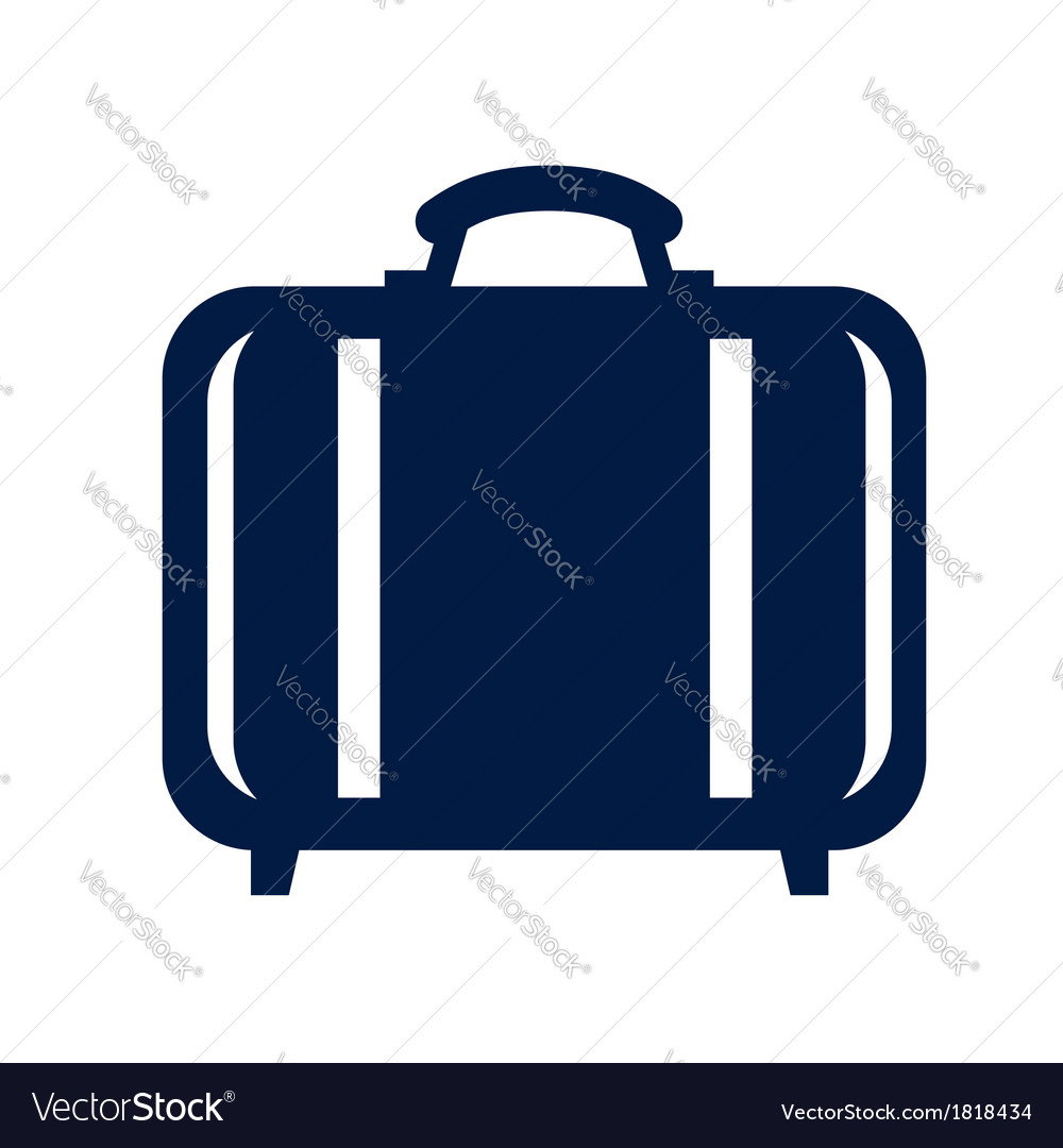 Travel bag icon vector | Price: 1 Credit (USD $1)