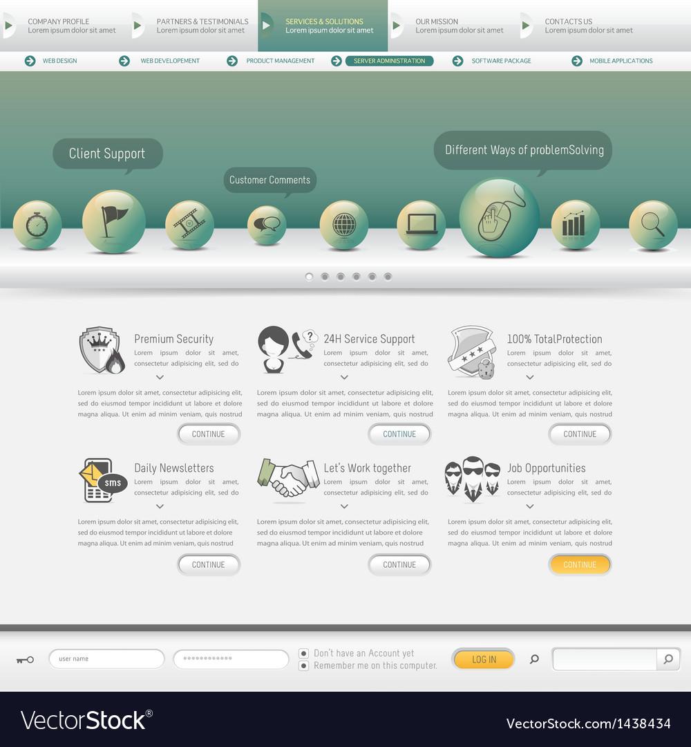 Website navigation vector   Price: 1 Credit (USD $1)