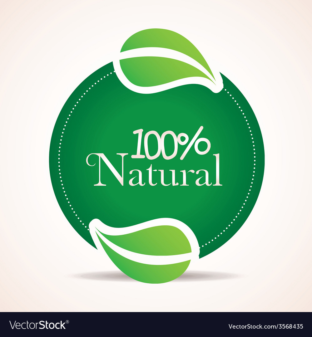 100 percent natural design vector | Price: 1 Credit (USD $1)