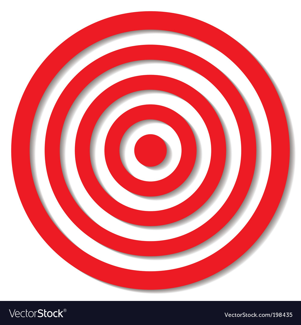 Archery target vector | Price: 1 Credit (USD $1)