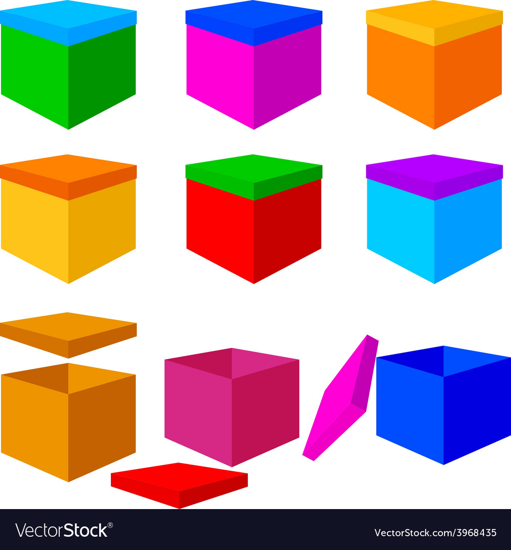 Collection of colorful box christmas gifts vector | Price: 1 Credit (USD $1)
