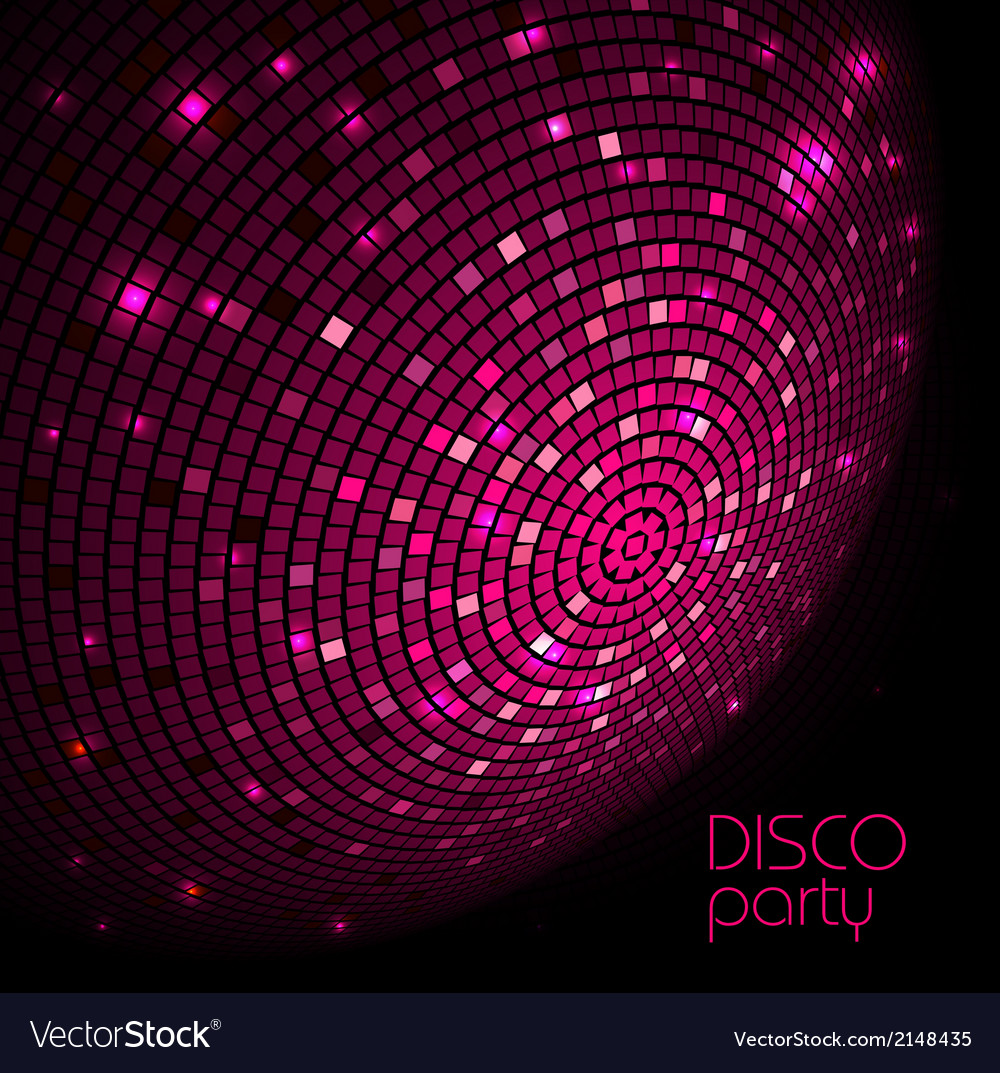 Disco ball disco background vector | Price: 1 Credit (USD $1)