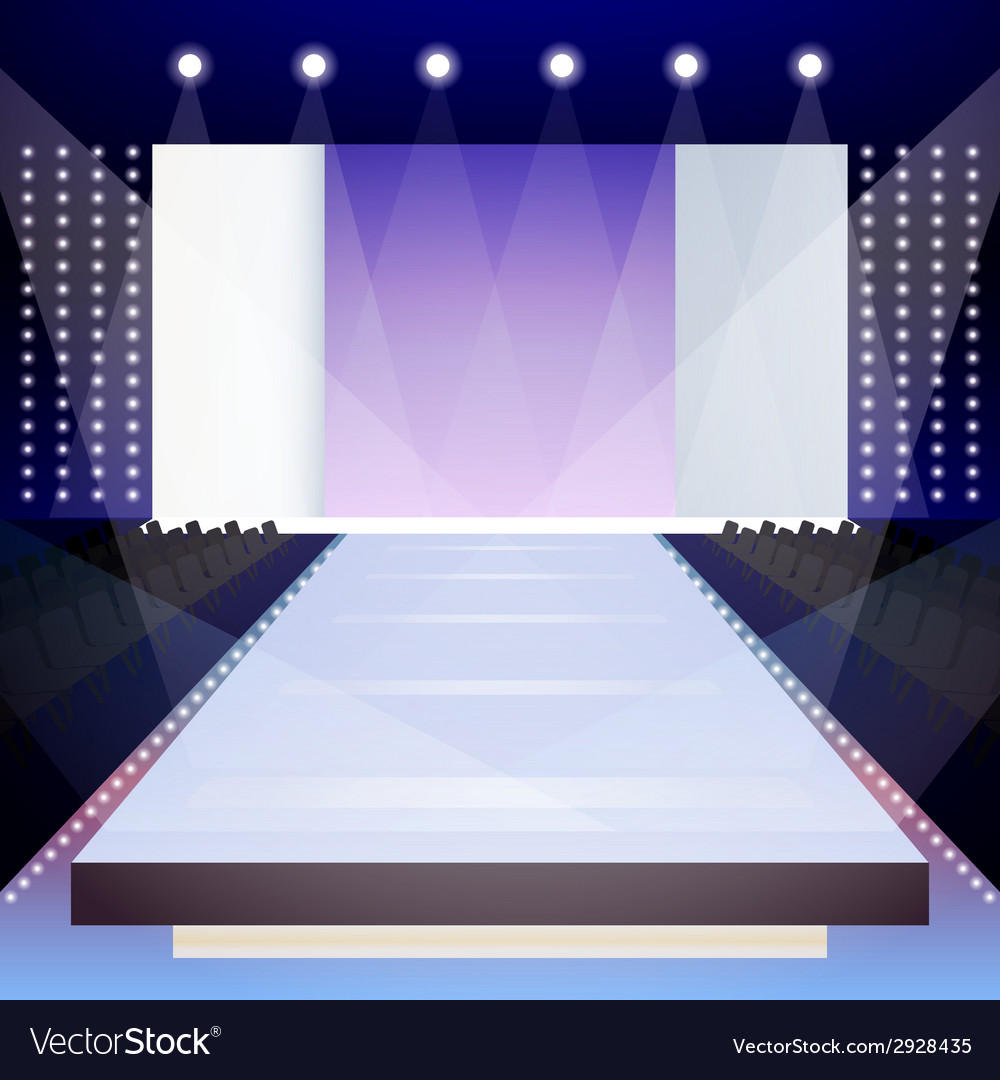 Fashion runway poster vector
