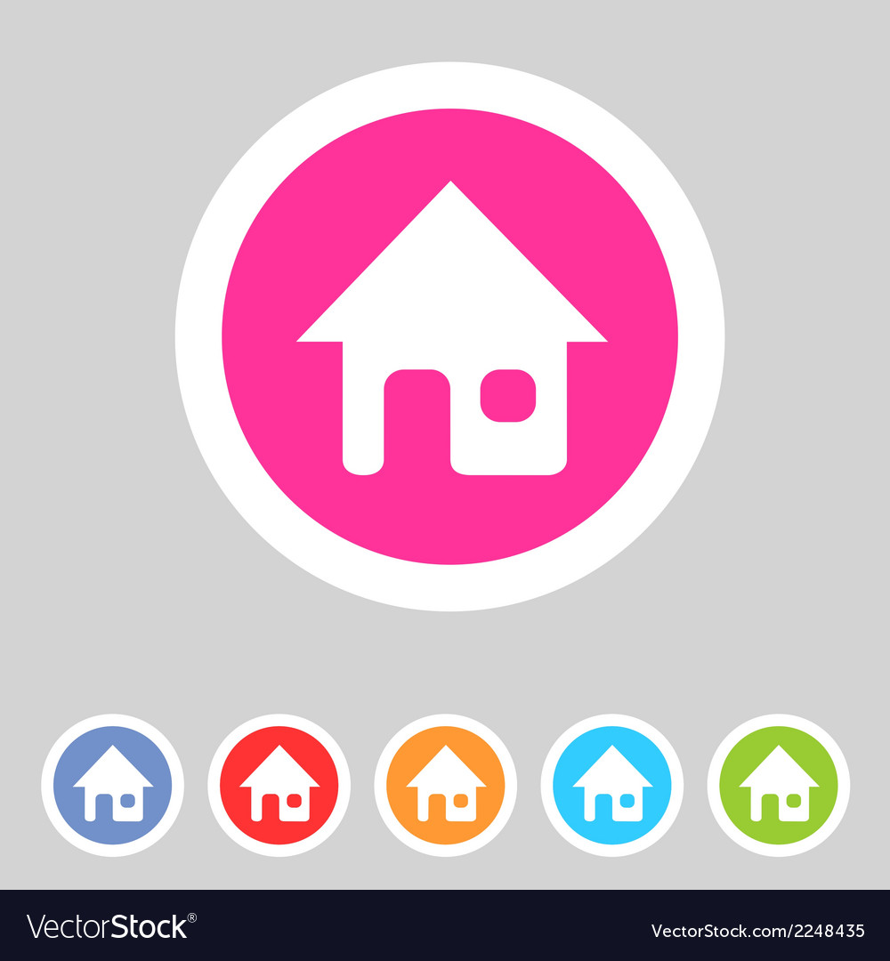 Flat game graphics icon home vector | Price: 1 Credit (USD $1)