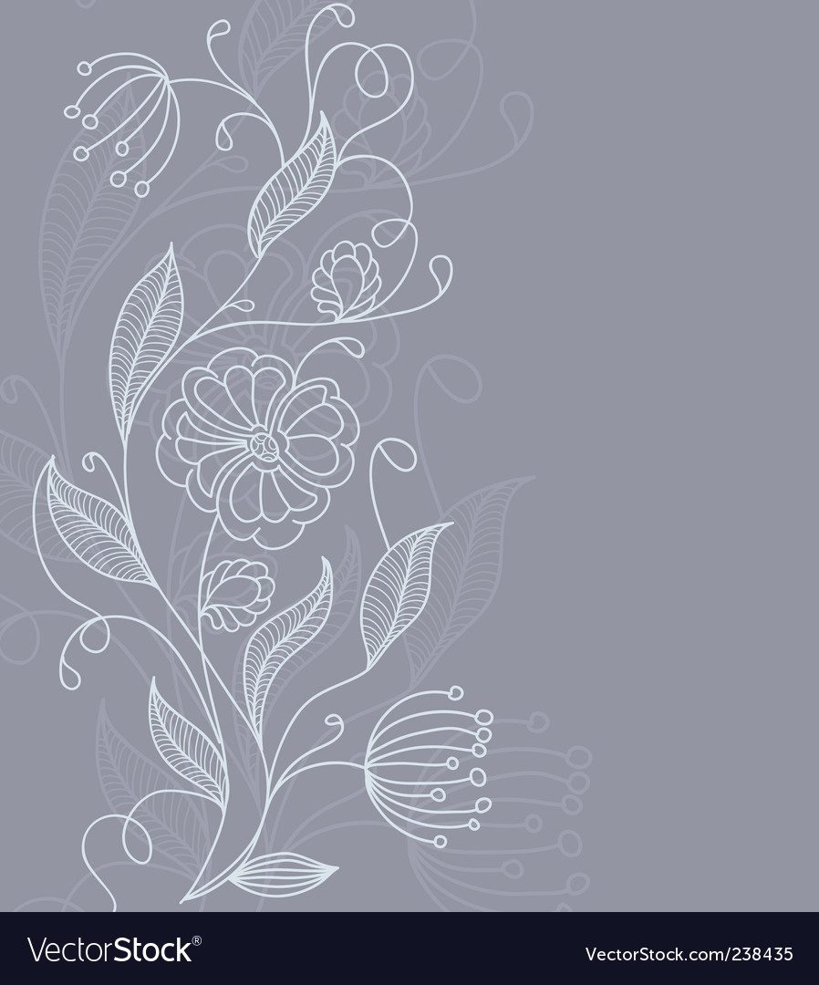 Floral back grey vector