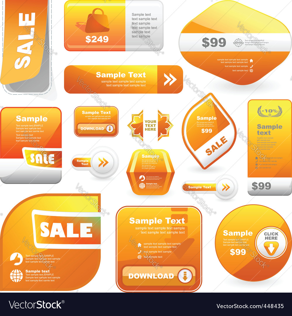 Great set of sale signs vector | Price: 1 Credit (USD $1)