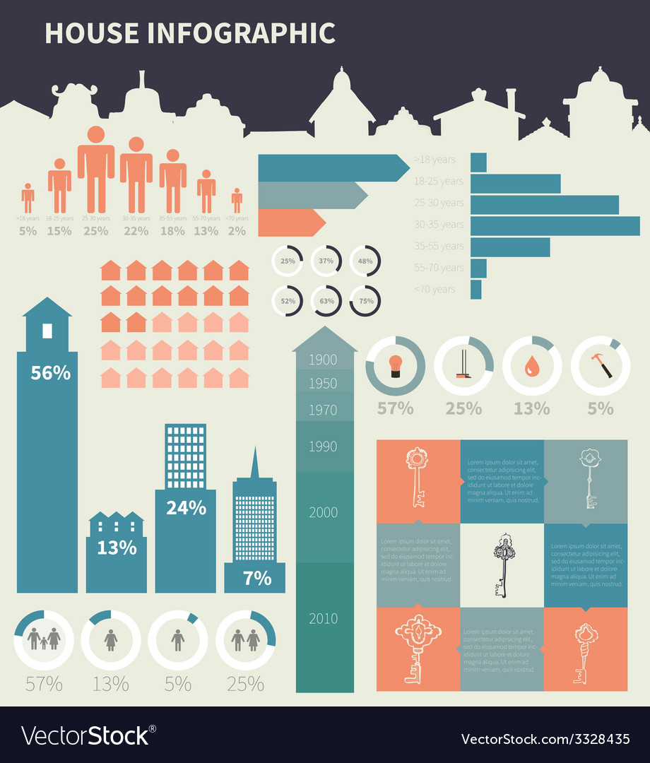 House infographic elements vector   Price: 1 Credit (USD $1)