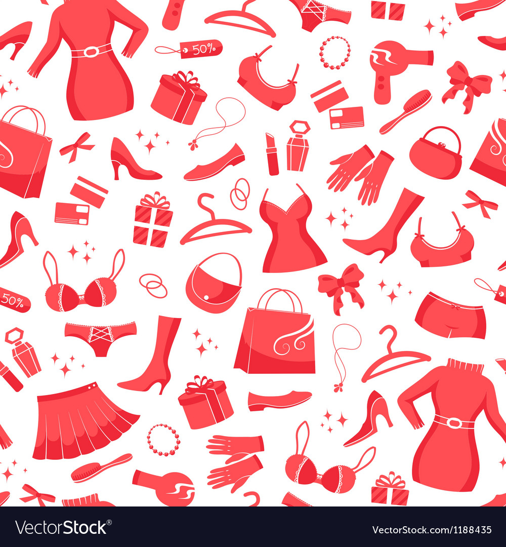 Shopping pattern vector | Price: 1 Credit (USD $1)
