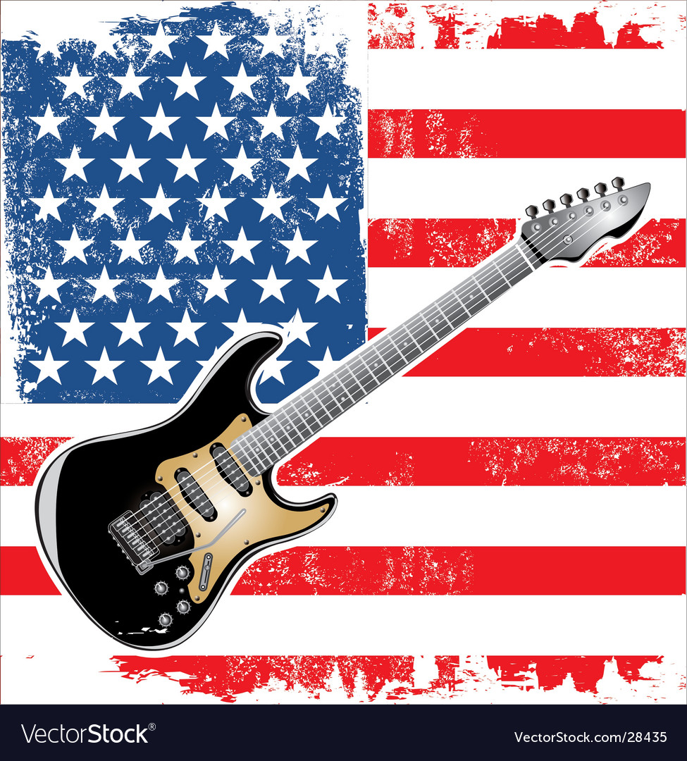 Usa guitar american vector | Price: 3 Credit (USD $3)