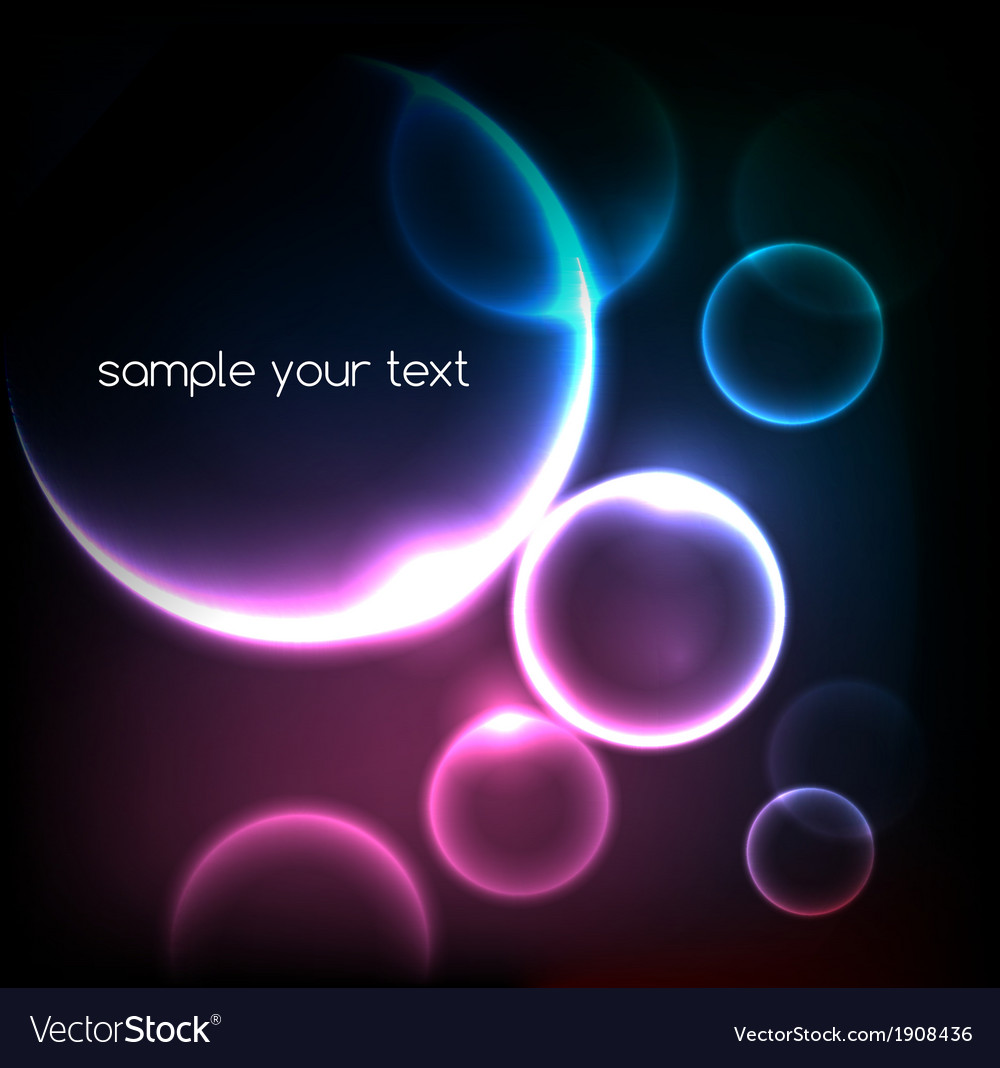 Blue light effects on round placeholder for your vector | Price: 1 Credit (USD $1)