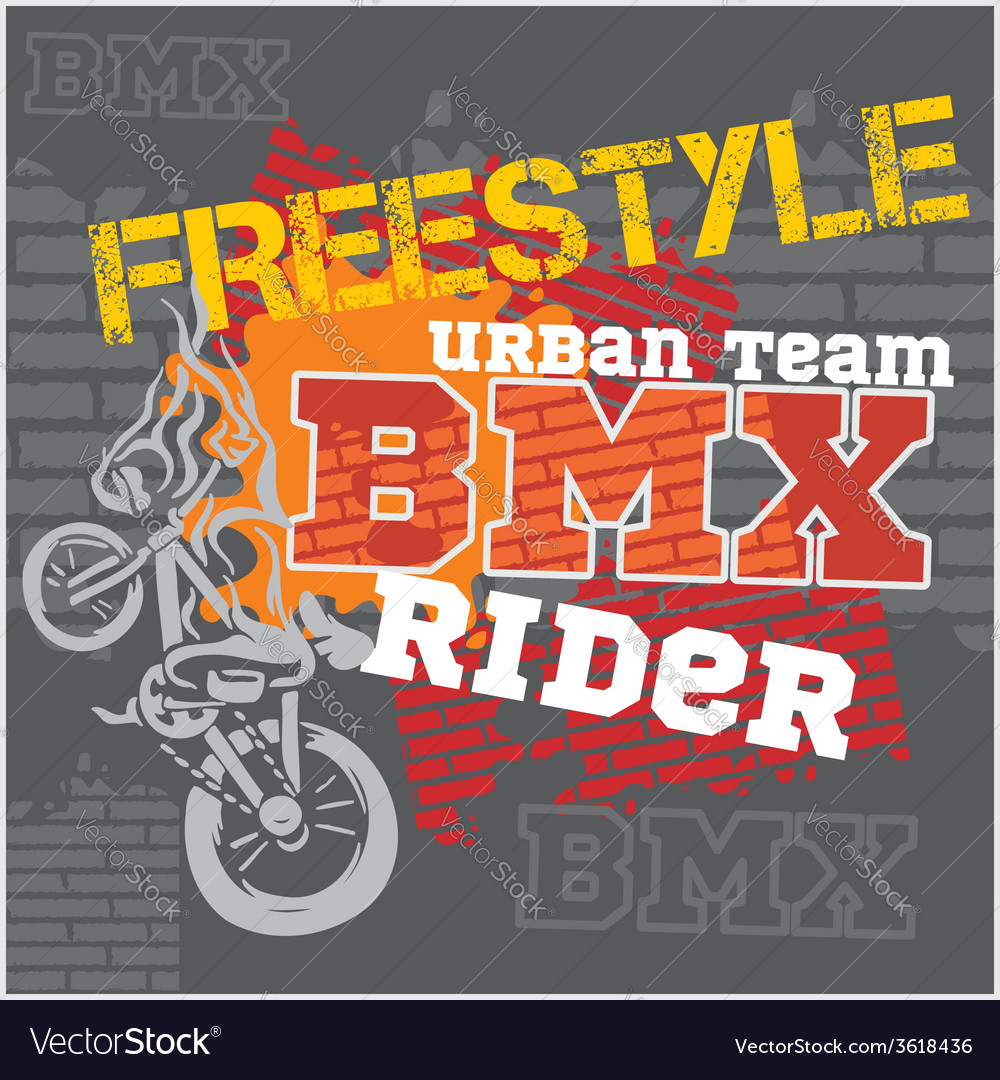 Bmx rider - urban team design vector | Price: 1 Credit (USD $1)