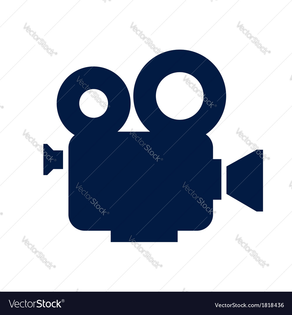 Cinema camera icon vector   Price: 1 Credit (USD $1)
