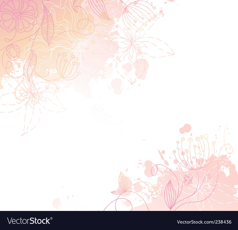 Floral back splash pink vector | Price: 1 Credit (USD $1)