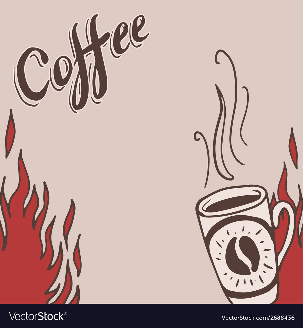 Hand drawn background with coffee mugs vector | Price: 1 Credit (USD $1)