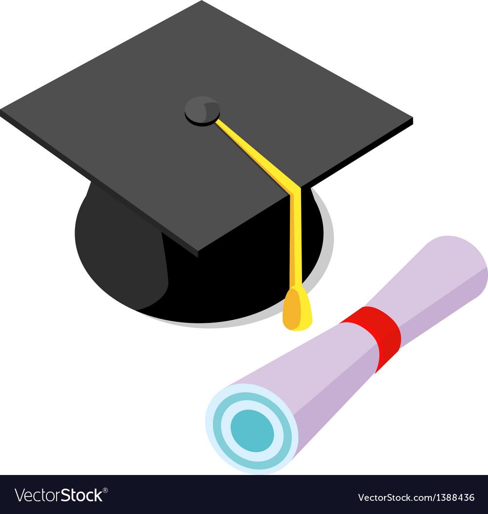 Icon graduation cap vector   Price: 1 Credit (USD $1)