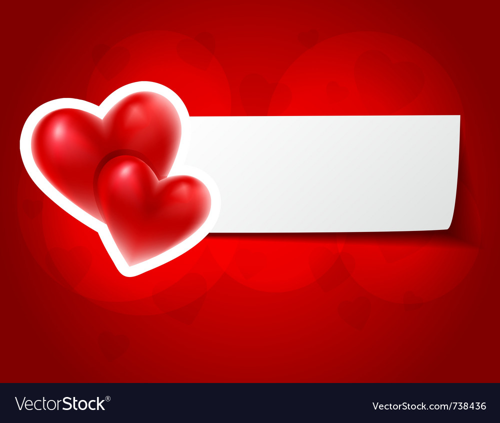 Love hearts card vector | Price: 1 Credit (USD $1)