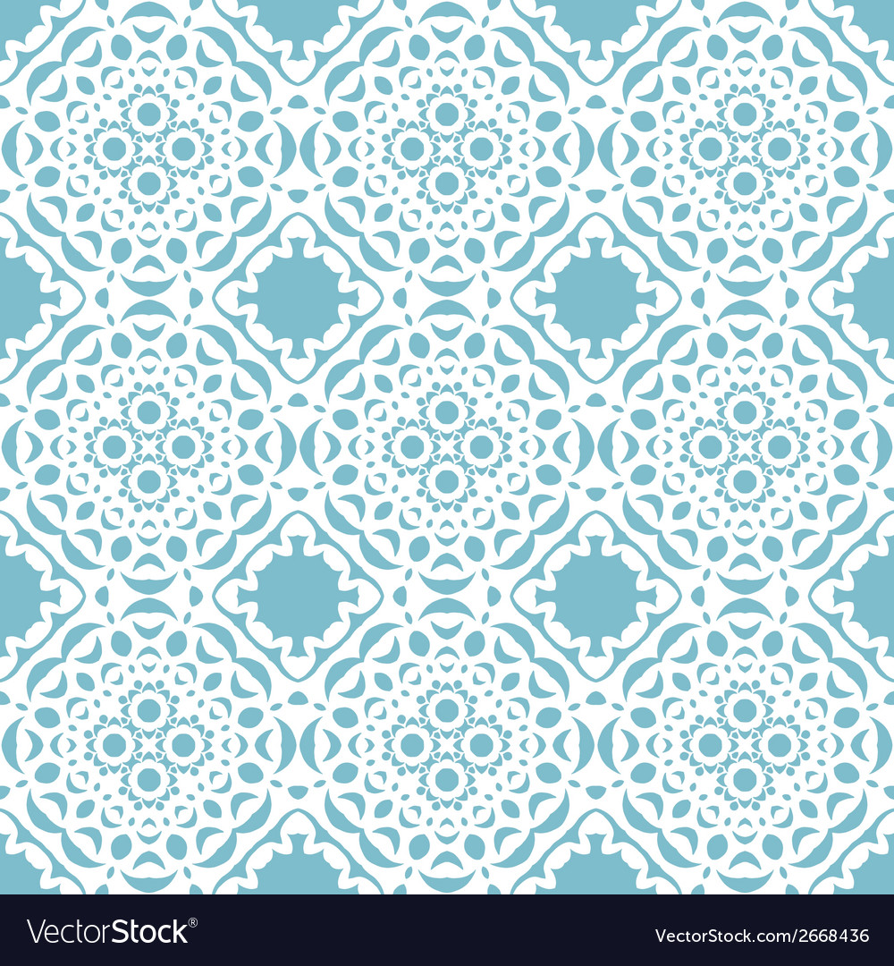 Seamless geometric mandala pattern vector | Price: 1 Credit (USD $1)