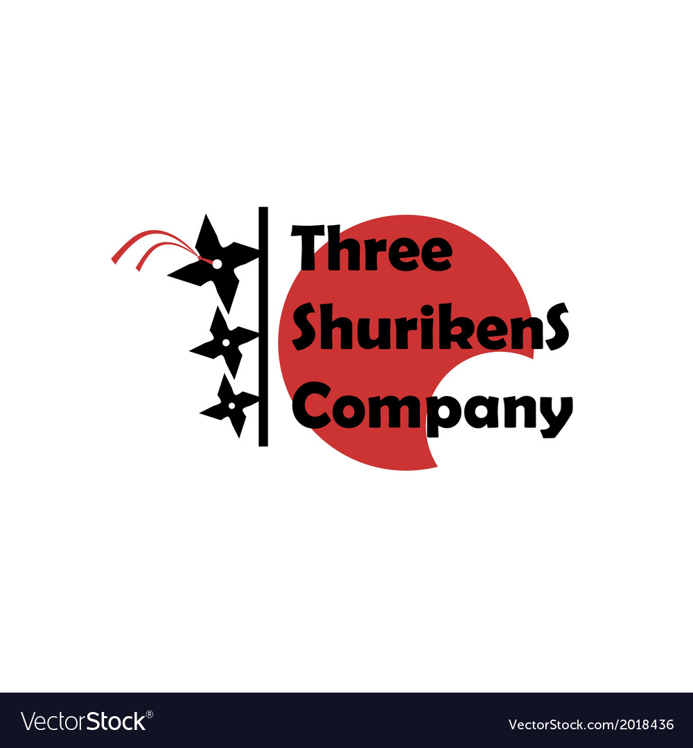 Three shurikens sign vector | Price: 1 Credit (USD $1)