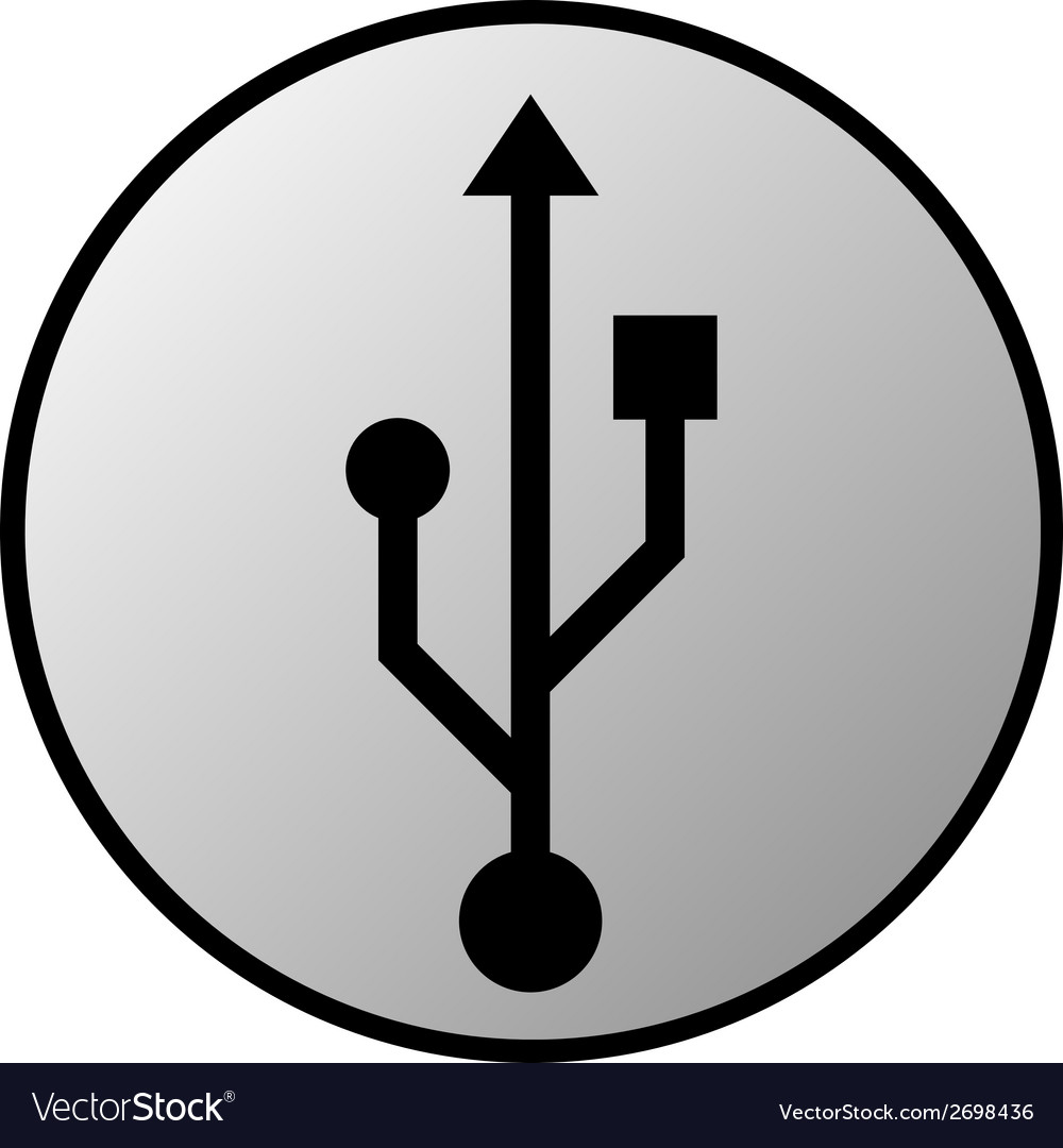Usb button vector | Price: 1 Credit (USD $1)
