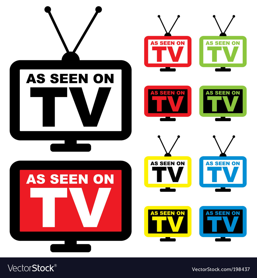 As seen on tv vector | Price: 1 Credit (USD $1)