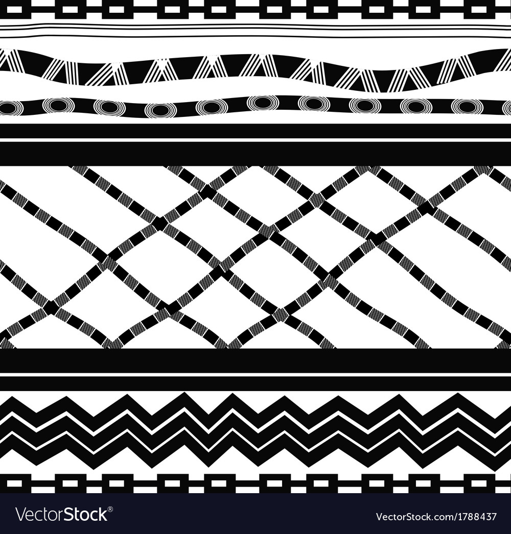 Black and white seamless in ethnic style vector | Price: 1 Credit (USD $1)