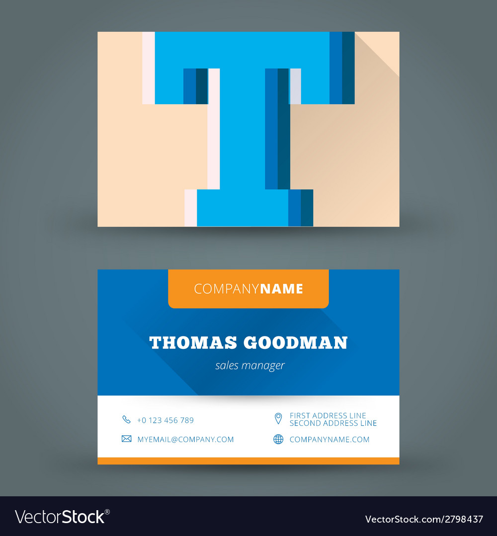 Business card design template background vector   Price: 1 Credit (USD $1)