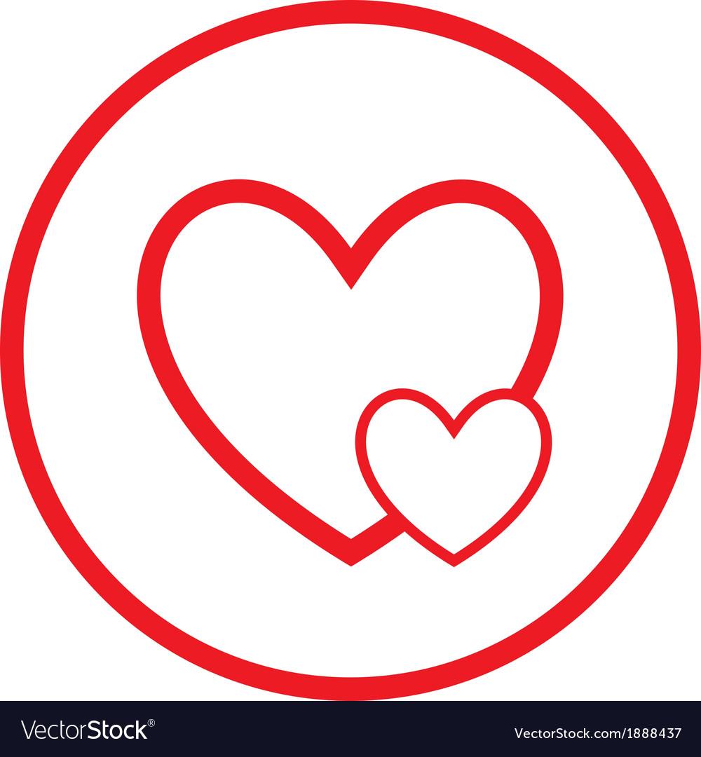 Careful heart icon vector | Price: 1 Credit (USD $1)