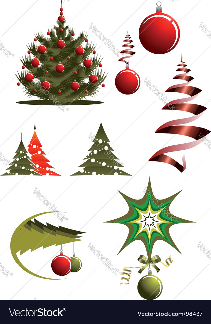 Christmas icons and symbols vector   Price: 1 Credit (USD $1)