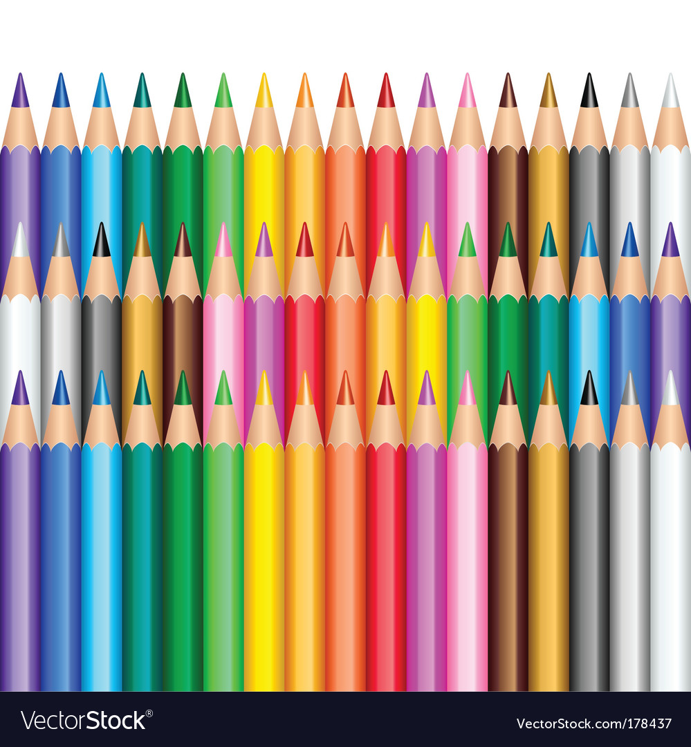 Color pencils background vector | Price: 1 Credit (USD $1)