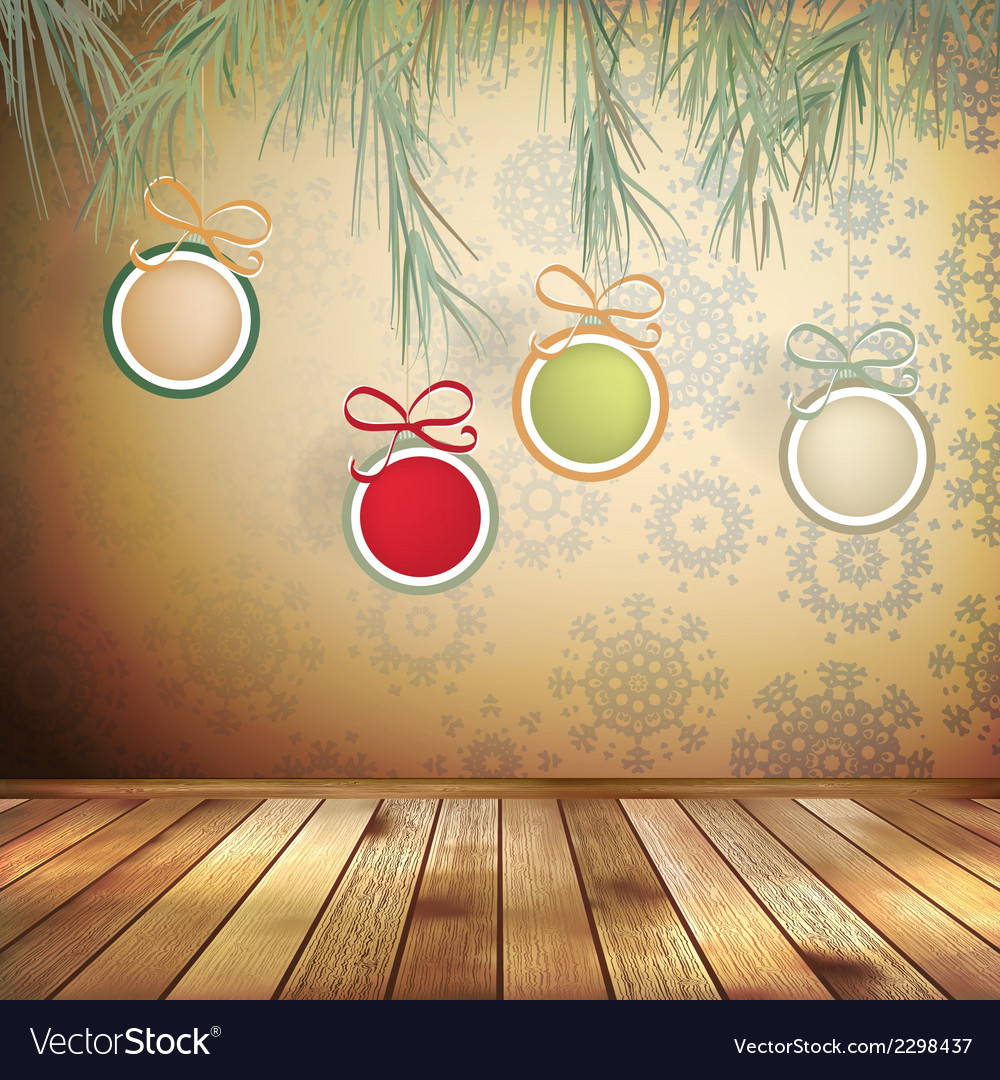 Congratulation with christmas interior eps 10 vector | Price: 1 Credit (USD $1)