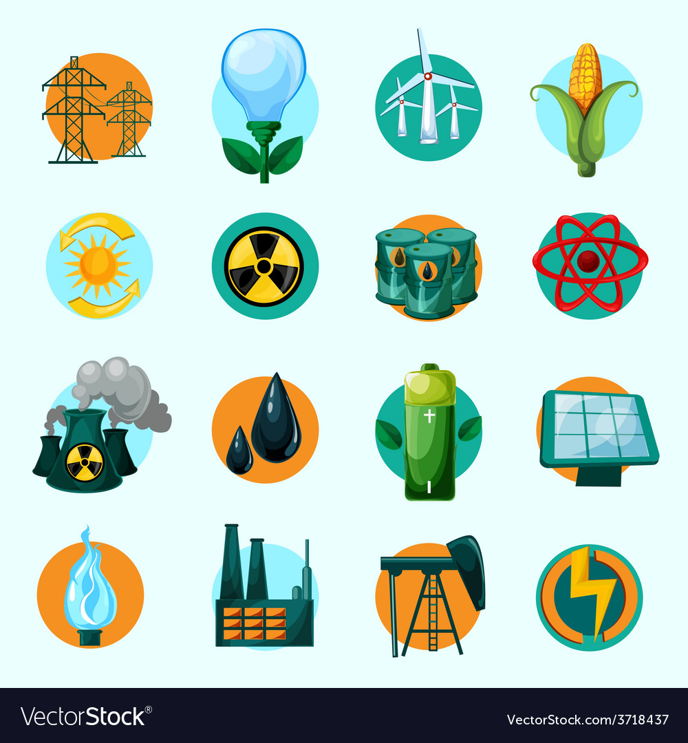 Energy icons set vector | Price: 1 Credit (USD $1)