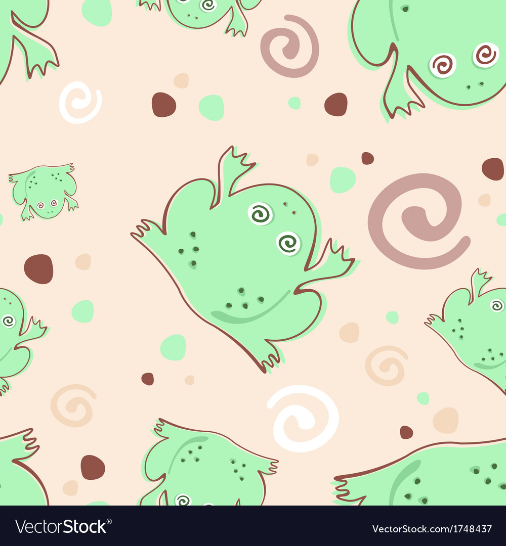 Frogs pattern vector | Price: 1 Credit (USD $1)