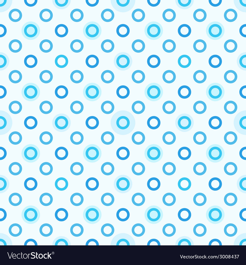 Modern seamless blue polka dot pattern vector | Price: 1 Credit (USD $1)