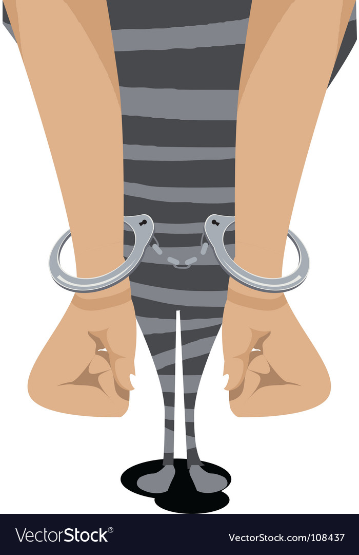 Prisoner handcuff vector | Price: 1 Credit (USD $1)