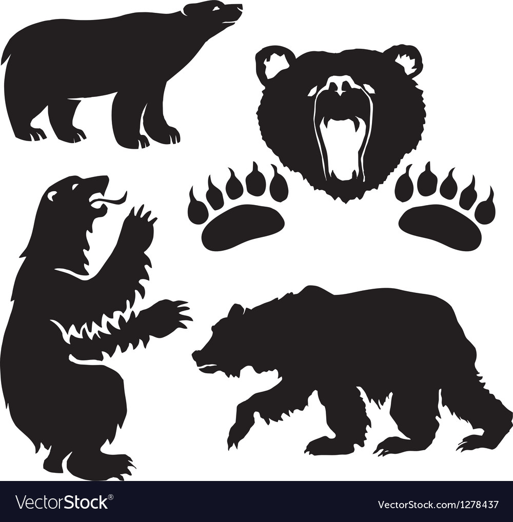 Silhouette bear vector | Price: 1 Credit (USD $1)