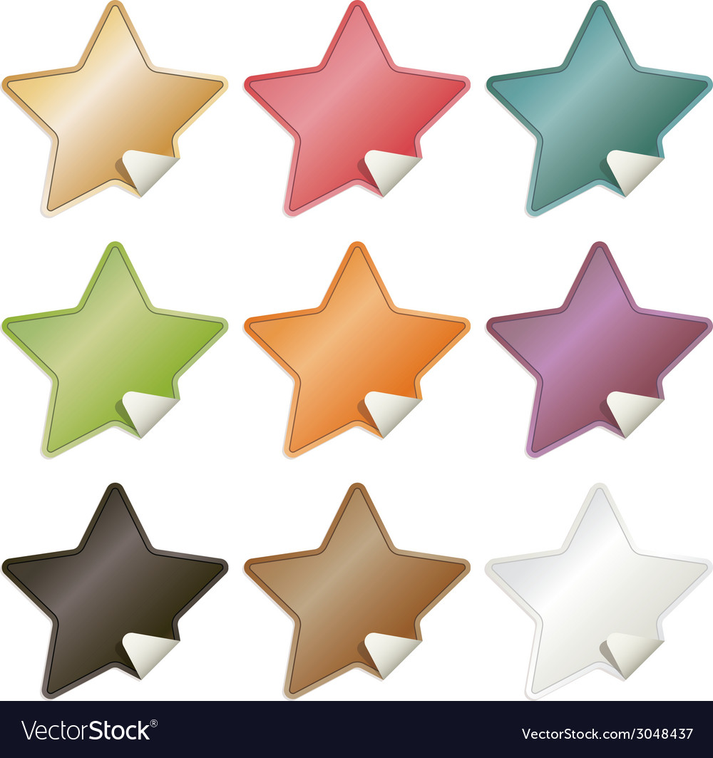 Star stickers vector | Price: 1 Credit (USD $1)