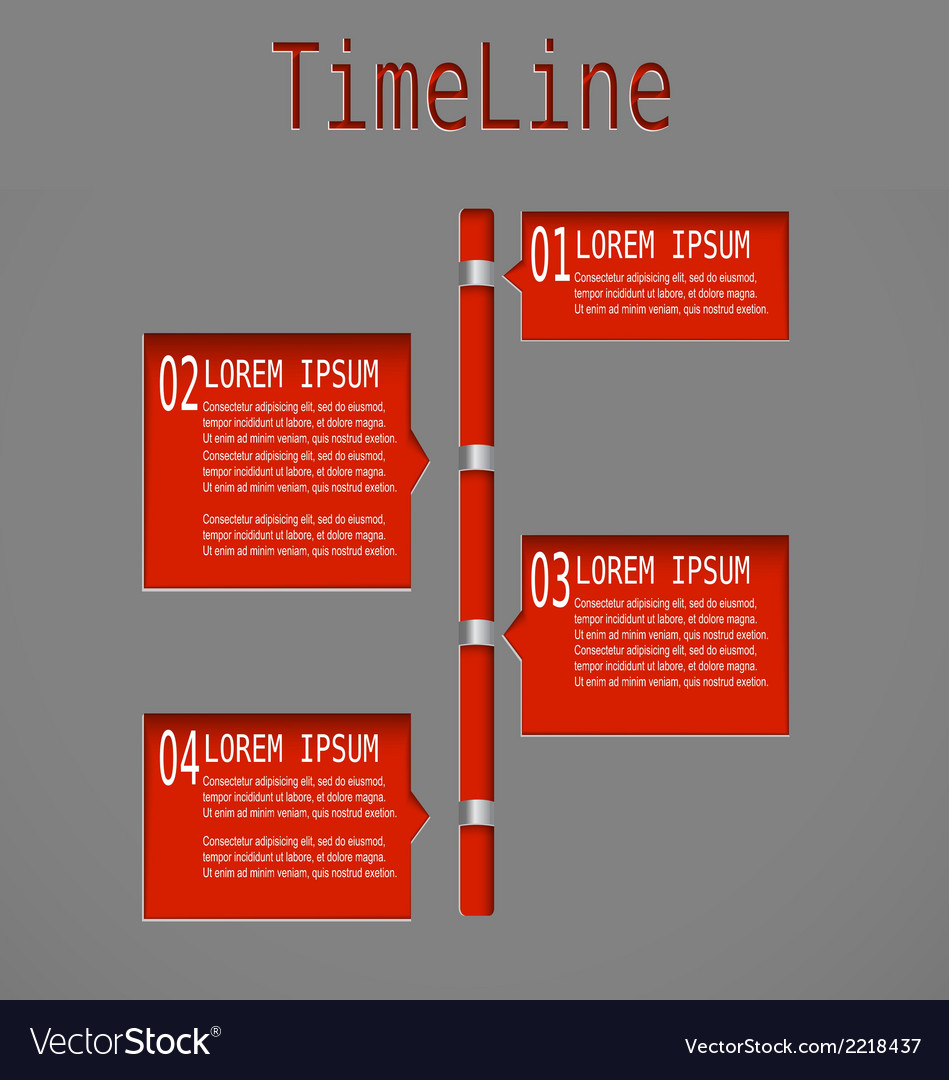 Time line red diagram vector | Price: 1 Credit (USD $1)
