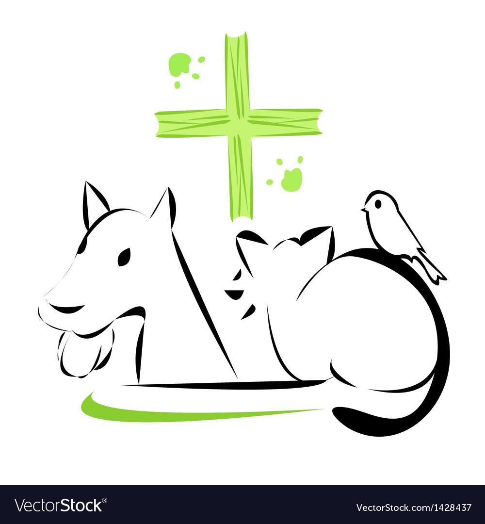 Veterinary clinic emblem vector | Price: 1 Credit (USD $1)