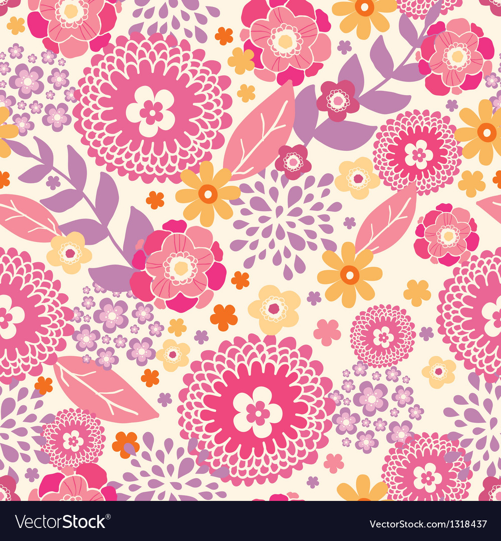 Warm summer plants seamless pattern background vector | Price: 1 Credit (USD $1)