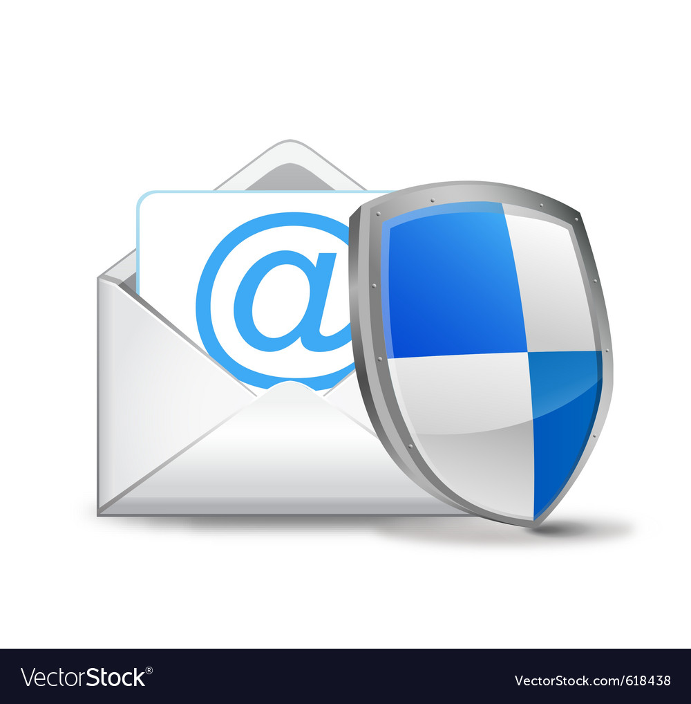 3d mail with security shield vector | Price: 1 Credit (USD $1)