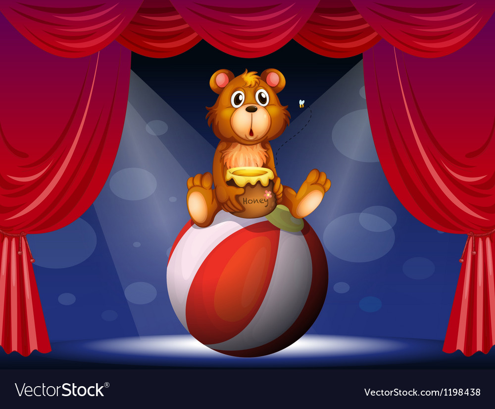 A circus show with a bear vector | Price: 1 Credit (USD $1)