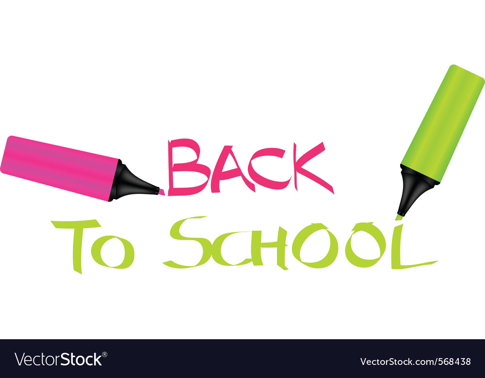 Back to school sign vector | Price: 1 Credit (USD $1)