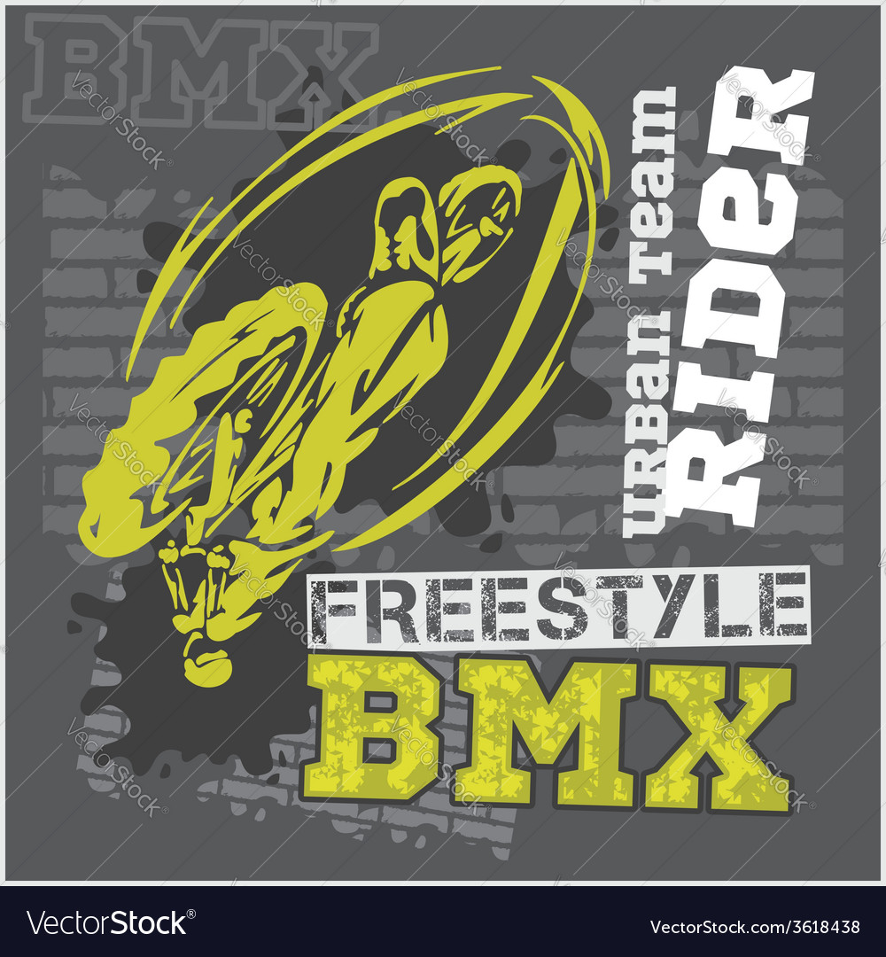 Bmx rider  urban team design vector