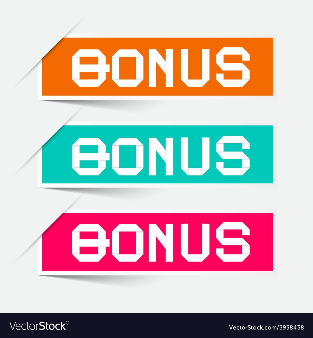 Bonus labels - stickers set vector   Price: 1 Credit (USD $1)
