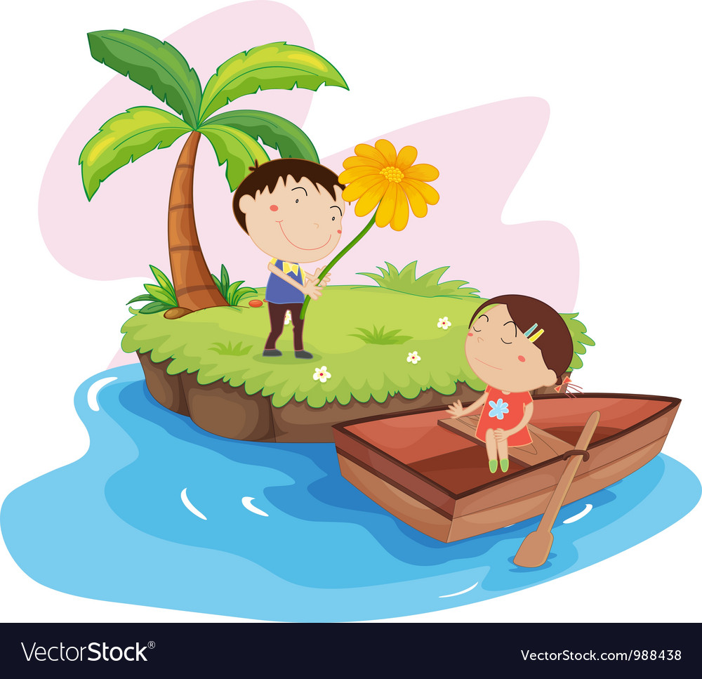 Couples island holiday vector | Price: 3 Credit (USD $3)