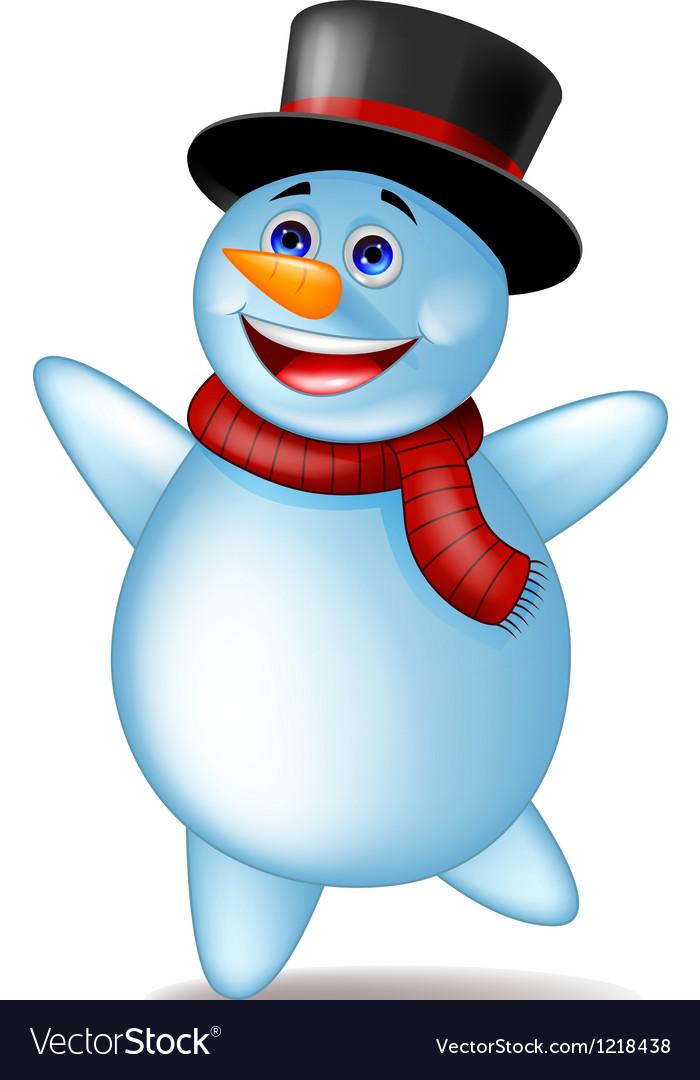Cute happy snowman vector | Price: 1 Credit (USD $1)