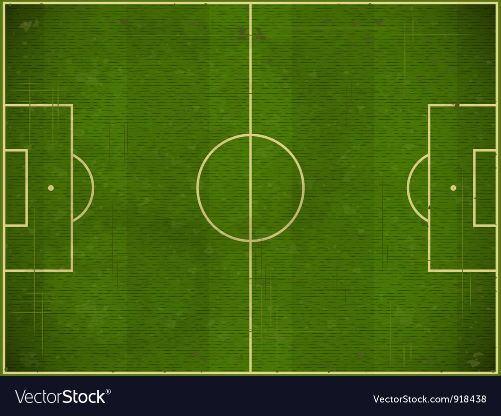 Football field vector | Price: 1 Credit (USD $1)